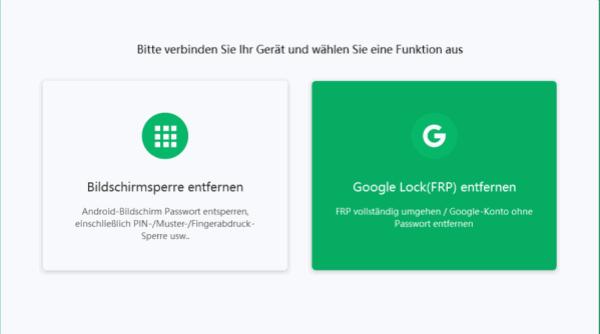 Google Konto umgehen