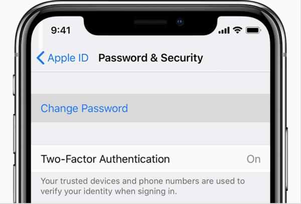Apple ID passwort ändern