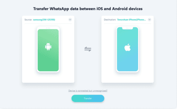 WhatsApp Android to iPhone